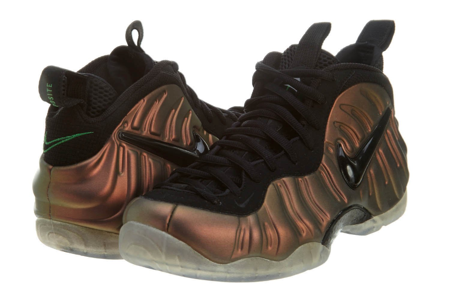Nike Herren Air Foamposite Pro Basketballschuhe  Gr??e US 6Y / EU 38,5|Black, Gym Green