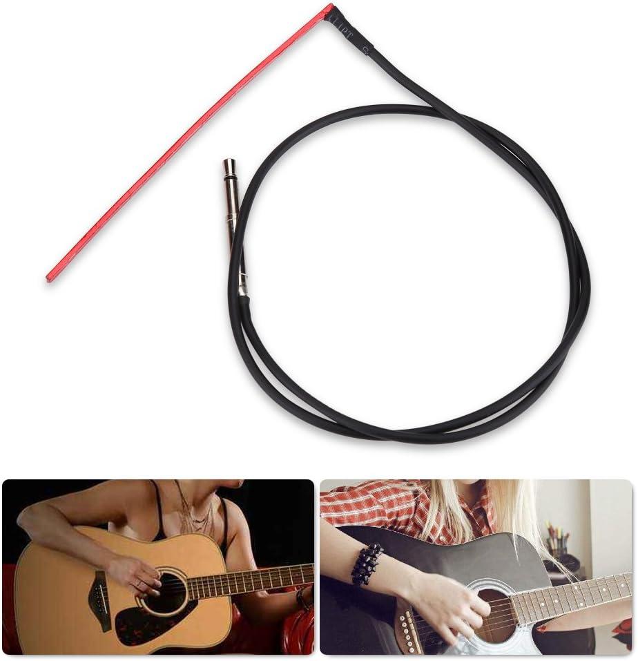 Piezokabel Pickup Sensitive Unter Saddle Gitarre Piezo Transducer mit Stecker f/ür Folk//Klassik Gitarre