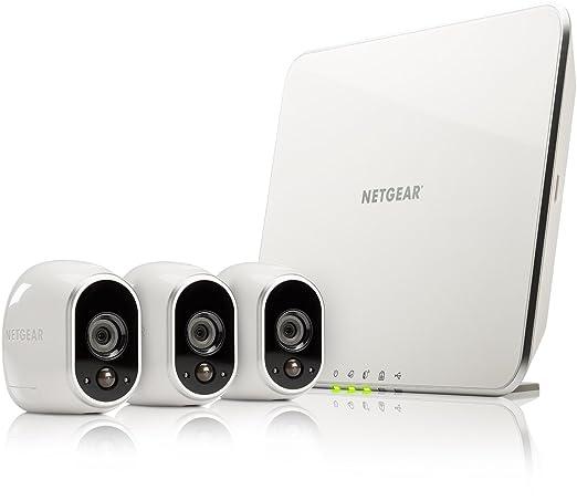 493 opinioni per Netgear VMS3330-100EUS Arlo Kit 3 Telecamere Wi-Fi per la Sicurezza Domestica e