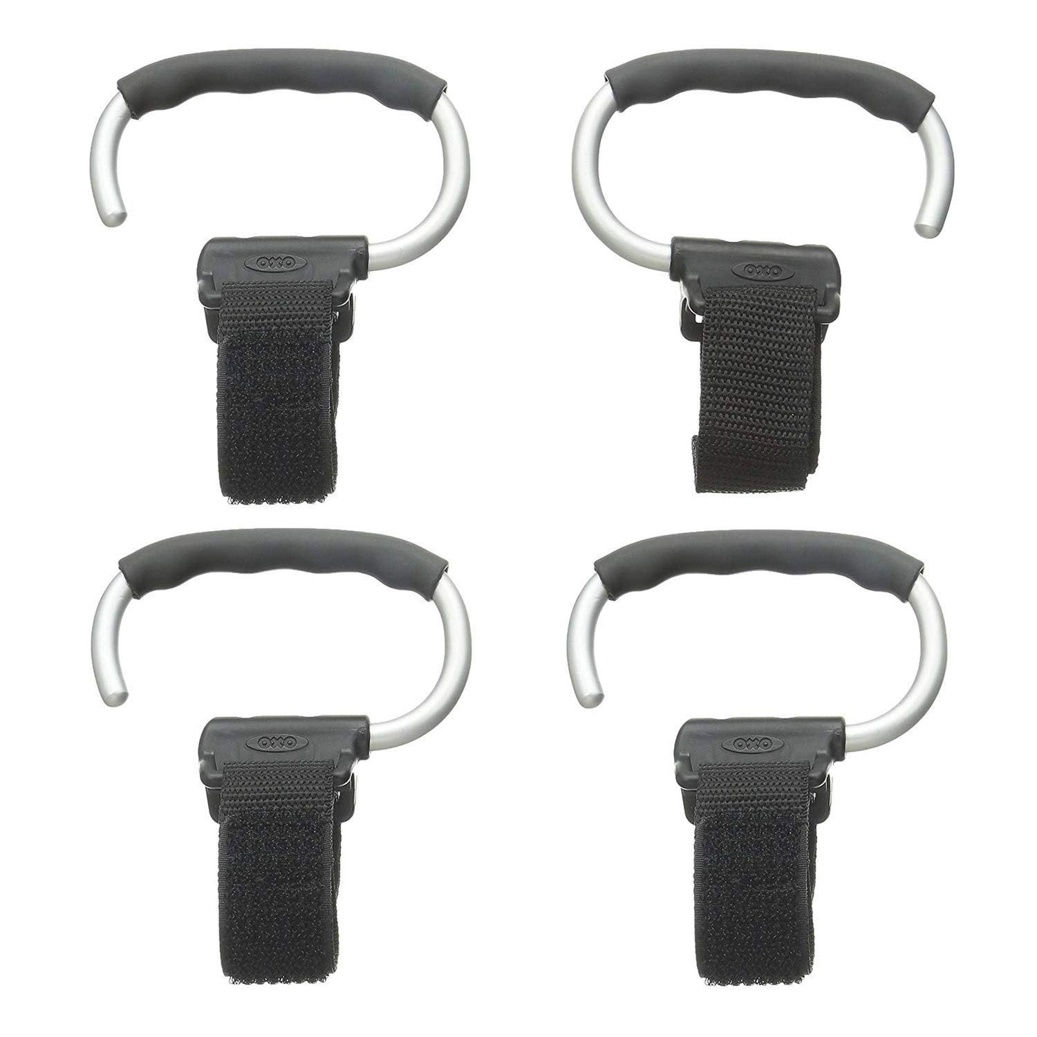 OXO Tot Handy Stroller Hook, Grey (4 Pack) by OXO
