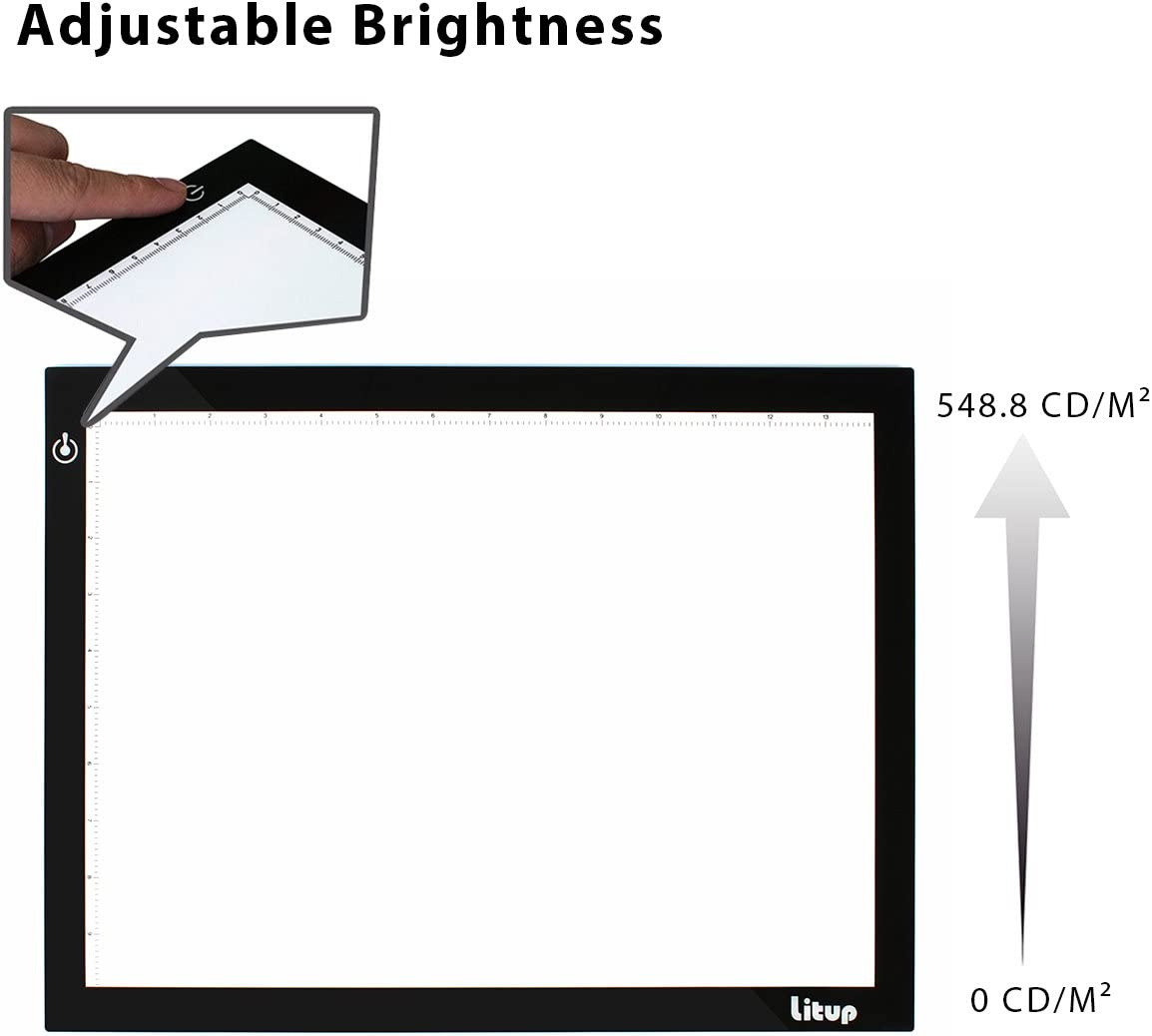 LP-B4 Litup A4 Portable LED Light Box Tracer L15.63 x W11.81 Light Pad Tracing Light Box for Drawing Animation Sketching Artcraft X-rayViewing