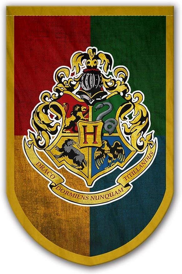 Amazon.com: Bandera de Hogwarts de Harry Potter – Bandera de ...