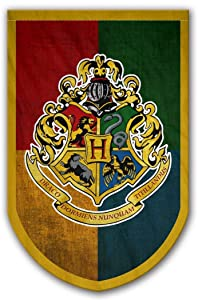 Harry Potter Hogwarts Banner - Hogwarts Flag - Printed on Both Sides - Perfect Conditions For Outside - Amazing Gift For All PotterHeads - Unique HP Collectible Accessories