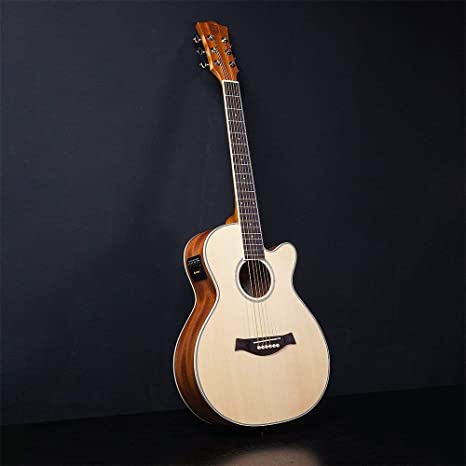 Vangoa - Guitarra eléctrica acústica con bolsa de guitarra, correa, afinador, cuerda, púas, cebo (36 pulgadas): Amazon.es: Instrumentos musicales