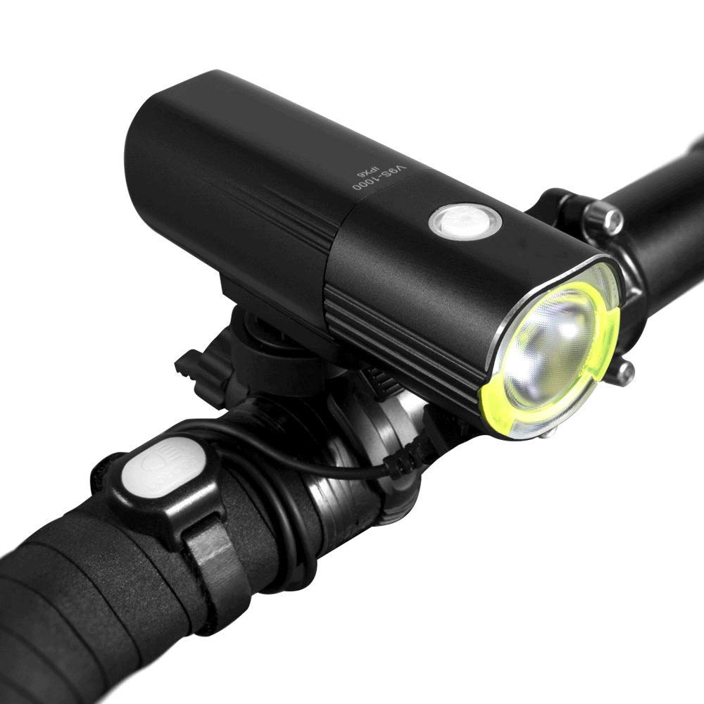 DFRgj Bike Light USB Rechargeable Bicycle Headlight IPX6 Waterproof Safety LED Bicycle Light for All Mountain Bike 1000 Lumens Aluminum Alloy Bicycle Headlights by DFRgj