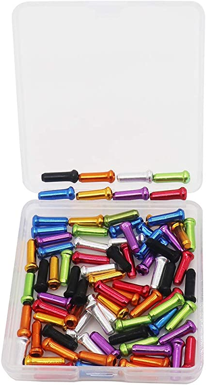 10 COLORFUL Bicycle Cable End Caps Tips For Brake or Derailleur Bike Parts