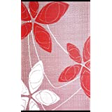 b.b.begonia Alaska Floral Contemporary Reversible Design 5 #39; x 8 #39; Red White Rectangle Outdoor