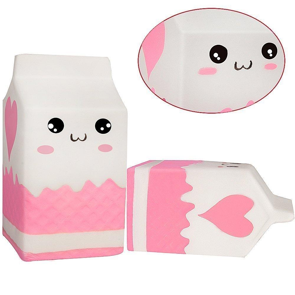 aroma a crema lenta y lisa juguete para botellas de leche Joseche Bolsa de leche de estr/és para peluche juguete para mu/ñeca