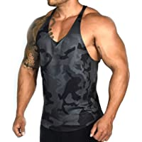 bed6c9592694 XARAZA Men s Muscle Stringer Tank Tops Athletic Workout Gym Fitness Vest T- Shirts
