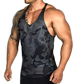 f11006f3c7839 XARAZA Men s Muscle Stringer Tank Tops Athletic Workout Gym Fitness Vest T- Shirts