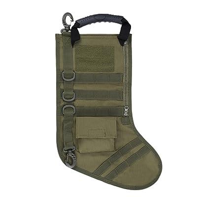 extérieur étanche Chasse militaire MOLLE Grande complète Sock tactique Chaussette de Noël Sac de rangement Boucle Pochette support en toile Gear