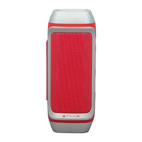 Talius 28BT - Altavoz Bluetooth 3.0, Tarjeta SD, Manos Libres, 10W, Color Rojo