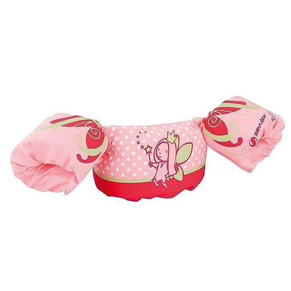 Sevylor Puddle Jumper, Manguitos bebé para aprender a nadar, para niños de 2 a 5 años, Rosa, de 15 a 30 kg de peso