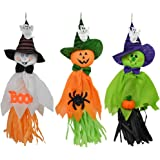 3pcs Halloween Decorations Dolls Ghost Hanging Ornaments Pendant for Halloween Spider Pumpkin Party Home Pros Decor (3 Pack)