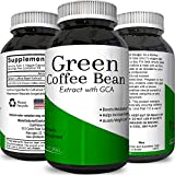 Natural Green Coffee Bean Extract Detox Cleanse Maximum Strength Weight Loss Dietary Supplement Increase Energy Appetite Suppressant Burn Fat Boost Metabolism For Women and Men by Opti Natural