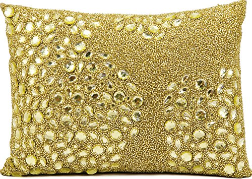 Nourison Mina Victory E5000 Fully Beaded Decorative Pillow, 13