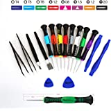 Kaisi 16-Piece Precision Screwdriver Set Repair Tool Kit for iPad, iPhone & Other Devices (Kaisi 16 Piece)