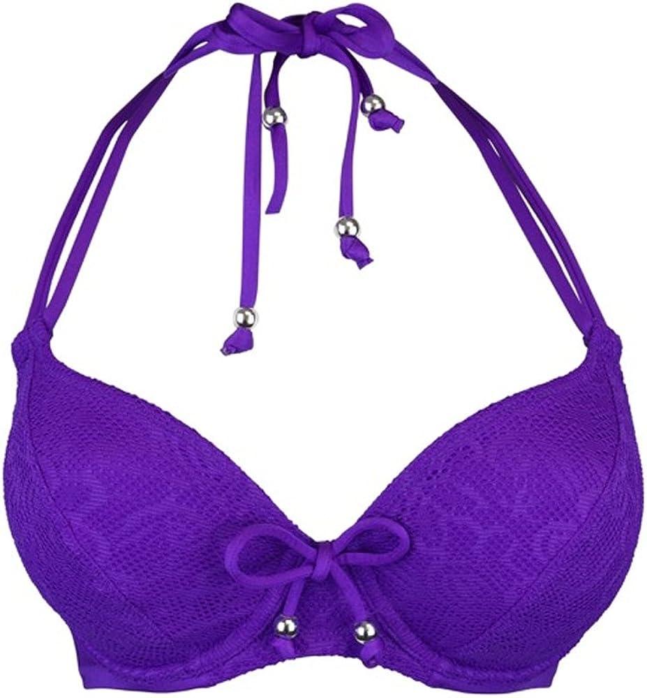 Pour Moi Puerto Rico Halter Triangle Bikini Top 65002 Amethyst Womens