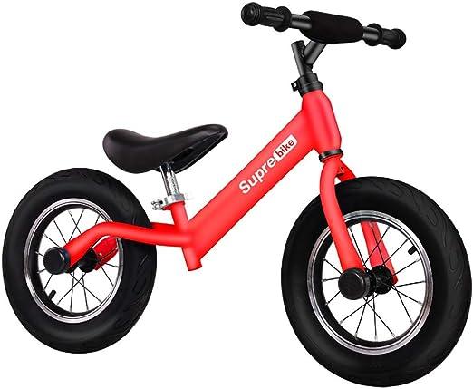 Bicicletas sin pedales Bicicleta de Equilibrio, Bicicleta de Entrenamiento sin Equilibrio de Pedales, Segura y cómoda Primera Bicicleta para niños y niños pequeños de 2 a 6 años (Color : Rojo): Amazon.es: Hogar