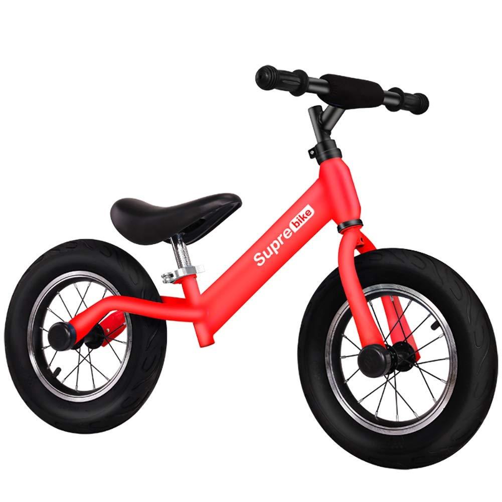 Biciclette senza pedali Balance Bike, No Pedal Balance Training Bicycle, Safe & Comfortable Prima Bici per Bambini e Bambini da 2 a 6 Anni (colore   Rosso)