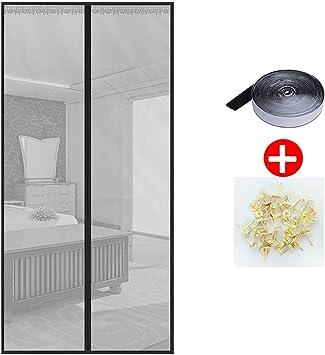 LRQY Mosquitera Magnética para Puertas, protección Insectos Moscas Cortina, con Imanes Cierre Automático y Velcro Adhesiva, para Correderas Balcones Terraza balcón,90x215cm(35x85inch): Amazon.es: Hogar