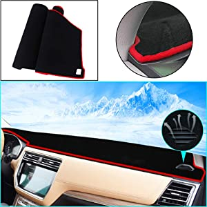 Custom Dashboard Mat for BMW 5 Series F10 F11 E34 E39 E60 E61 F07 G30 520i 525i 528i 530i 535i 540i 550i 520d 530d 2004-2009 Dash Cover Mat Non-Slip Sun Shade Pad Dash Protector Black Red