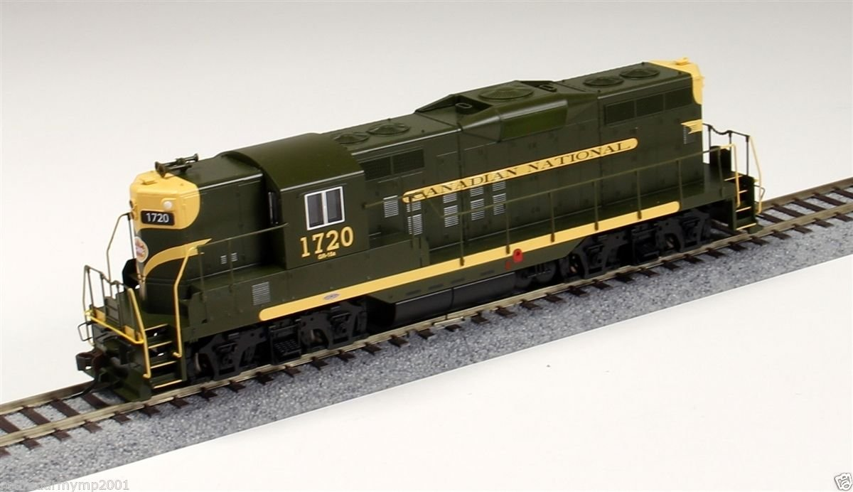 Olive Green//Yellow Bachmann Industries Inc 62813 Bachmann Industries EMD GP9 DCC Canadian National #1720 Equipped Locomotive HO Scale