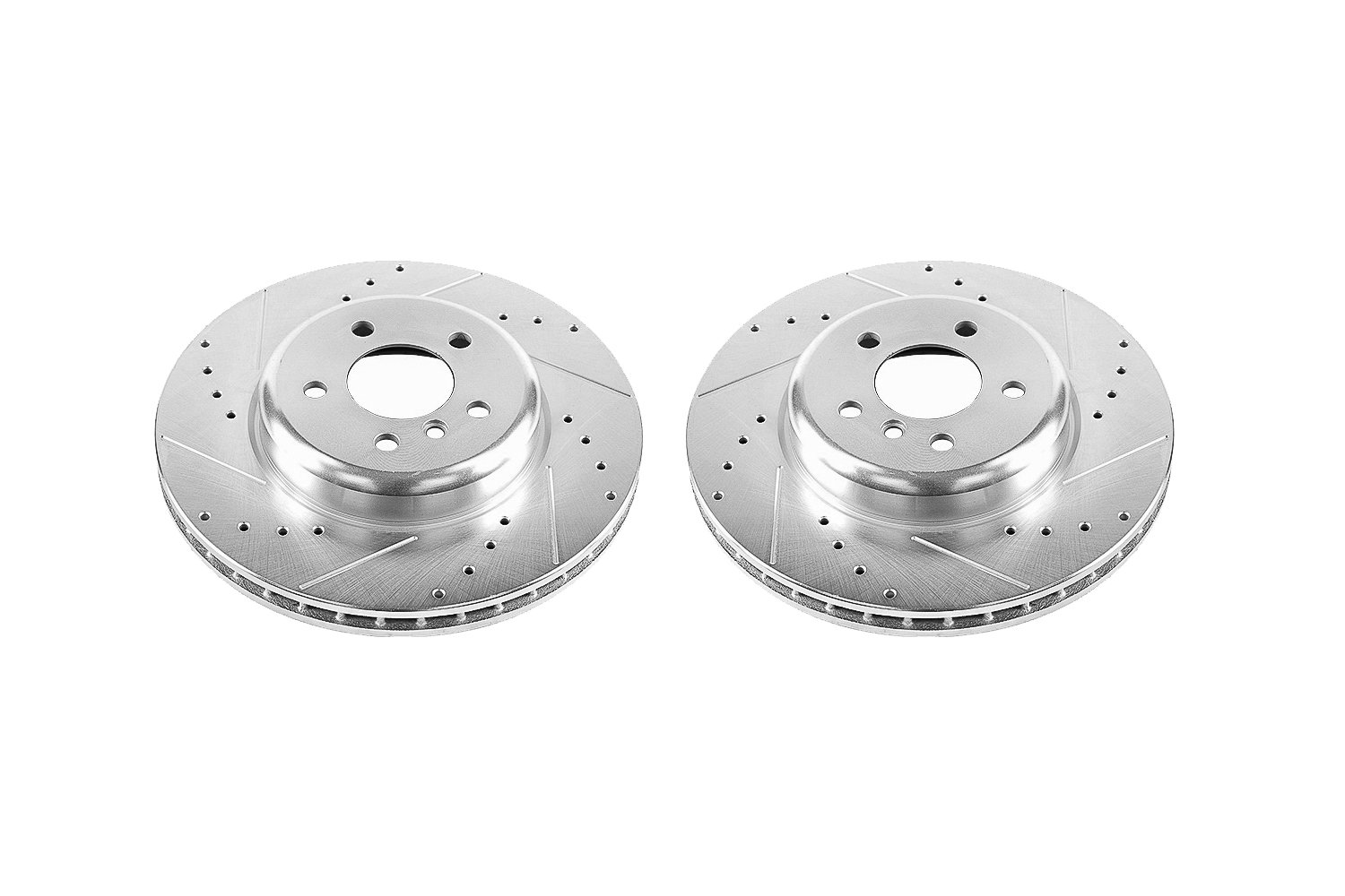 Power Stop EBR1228XPR Front Evolution Drilled and Slotted Rotor Pair