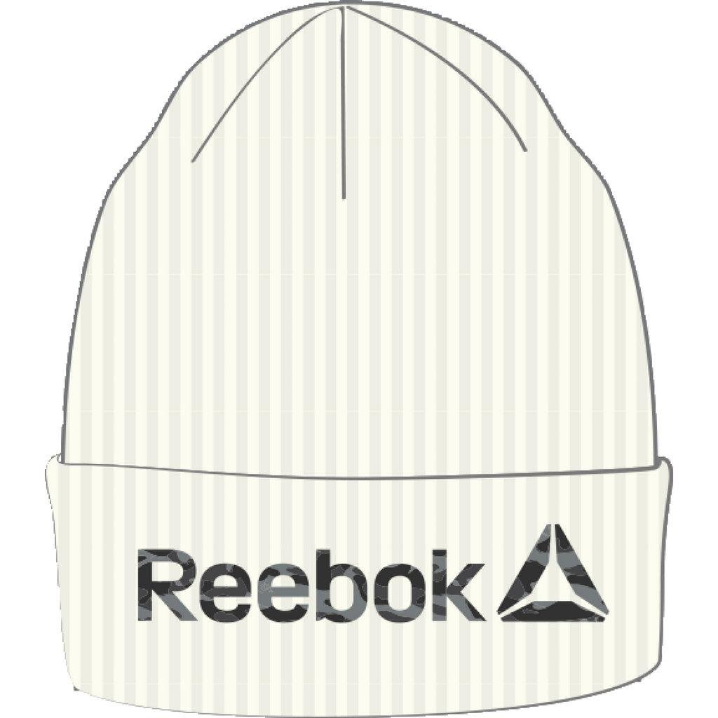 Reebok Act Enh Logo Beanie Gorro, niños, Negro (Chalk), OSFM BQ4858