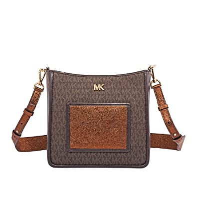 96cb3235f947 Amazon.com: Michael Michael Kors Gloria Swing Pack Leather Satchel: Shoes
