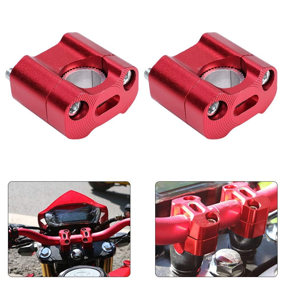 1 paire de colliers de serrage /à barre de 22mm de 22mm pour rehausse de guidon pour accessoires de r/éparation de moto Rehausse de guidon rouge