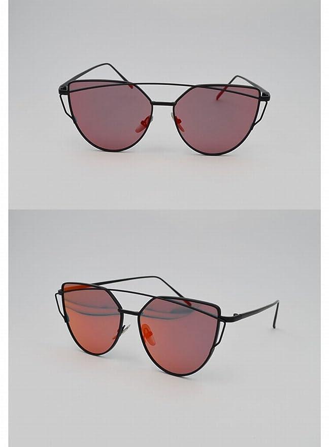 sonnenbrille katze brille Mit Spiegelbox Spiegel mode sonnenbrille goldrahmen schwarz grau DhVoMPq