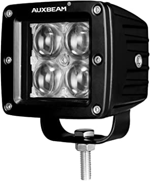 Auxbeam 3 Inch LED Light Bar 20w LED Pods Fog Lights Square Cube Lights Spot Beam Driving Light for Offroad Truck 4WD SUV ATV UTV Waterproof 4D Projector Hyperspot