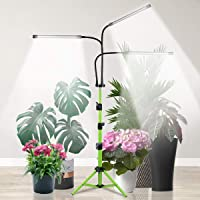Grow Light with Stand, 5500K Tri-Head Plant Light for Indoor Plants, 60W Sunlight Full Spectrum Floor Grow Lamp with 4/8…