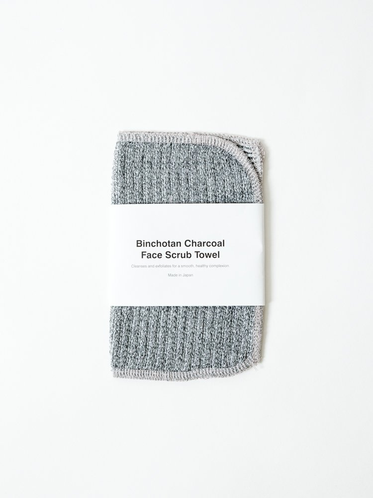Morihata Binchotan Activated Charcoal Face Scrub Towel