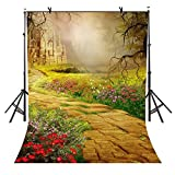 VVM 5x7ft Fantasy Castle Backdrop Fairy Tale Forest Path Birthday Party Decoration Computer-Printed Vinyl Backdrop VV235