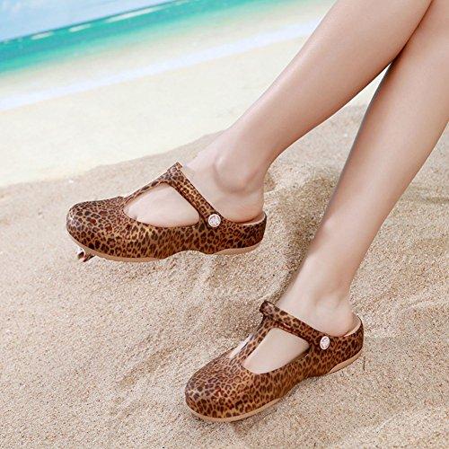 Formas con UK5 PENGFEI 4 US6 Ocio Colores Usar Agujeros Verano 5 Las Zapatos Tamaño Color Playa De Dos Zapatillas Antideslizante De 5 235 Mujeres EU37 5 Sandalias HBvBIq