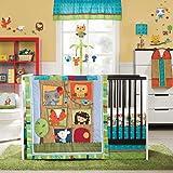 Kids Line Little Tree House 4-Piece Crib Bedding Set, 4-Pack