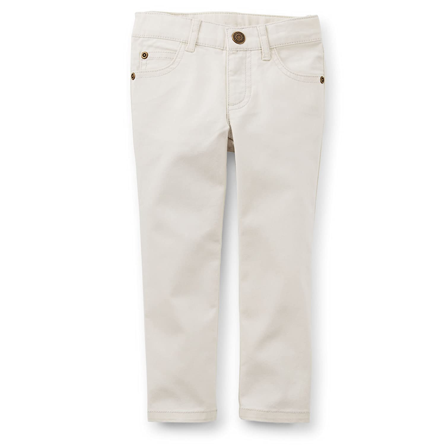 Carters Little Girls 5 Pocket Stretch Skinny Pants Ivory