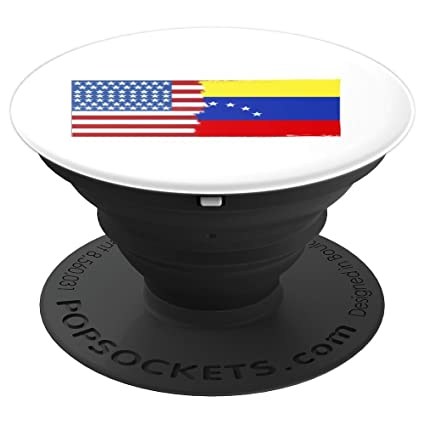 Flagmash Half American Half Venezuelan Flag I Love Venezuela - PopSockets Grip and Stand for Phones