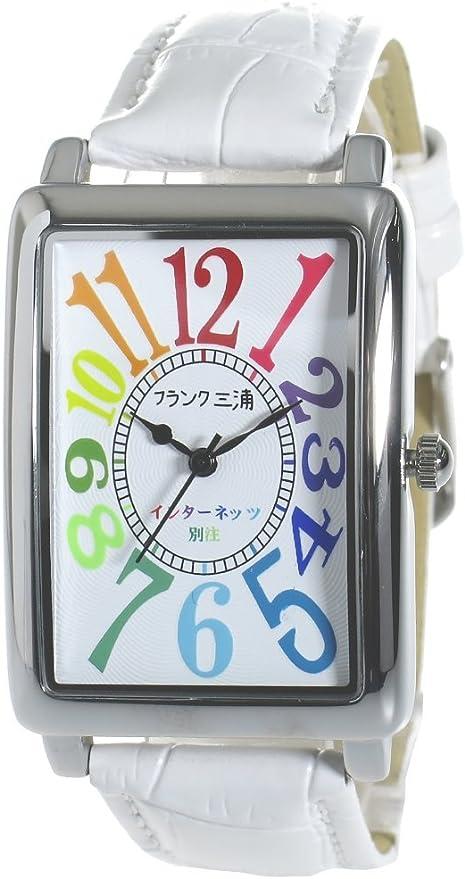 フランク三浦 インターネッツ別注 新初号機-CRWH メンズ 腕時計 ホワイト/ホワイト FM01IT-CRWH
