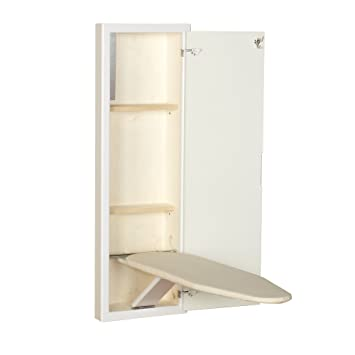 Household Essentials 18100 1 StowAway In Wall Ironing Board Cabinet With  Built In Ironing