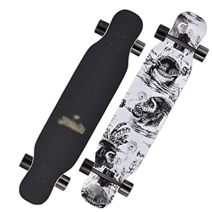 DUWEN Scooter Chicas Adultas De Cuatro Ruedas Skateboard Road Brush Street Doble Superior Tablero de Baile