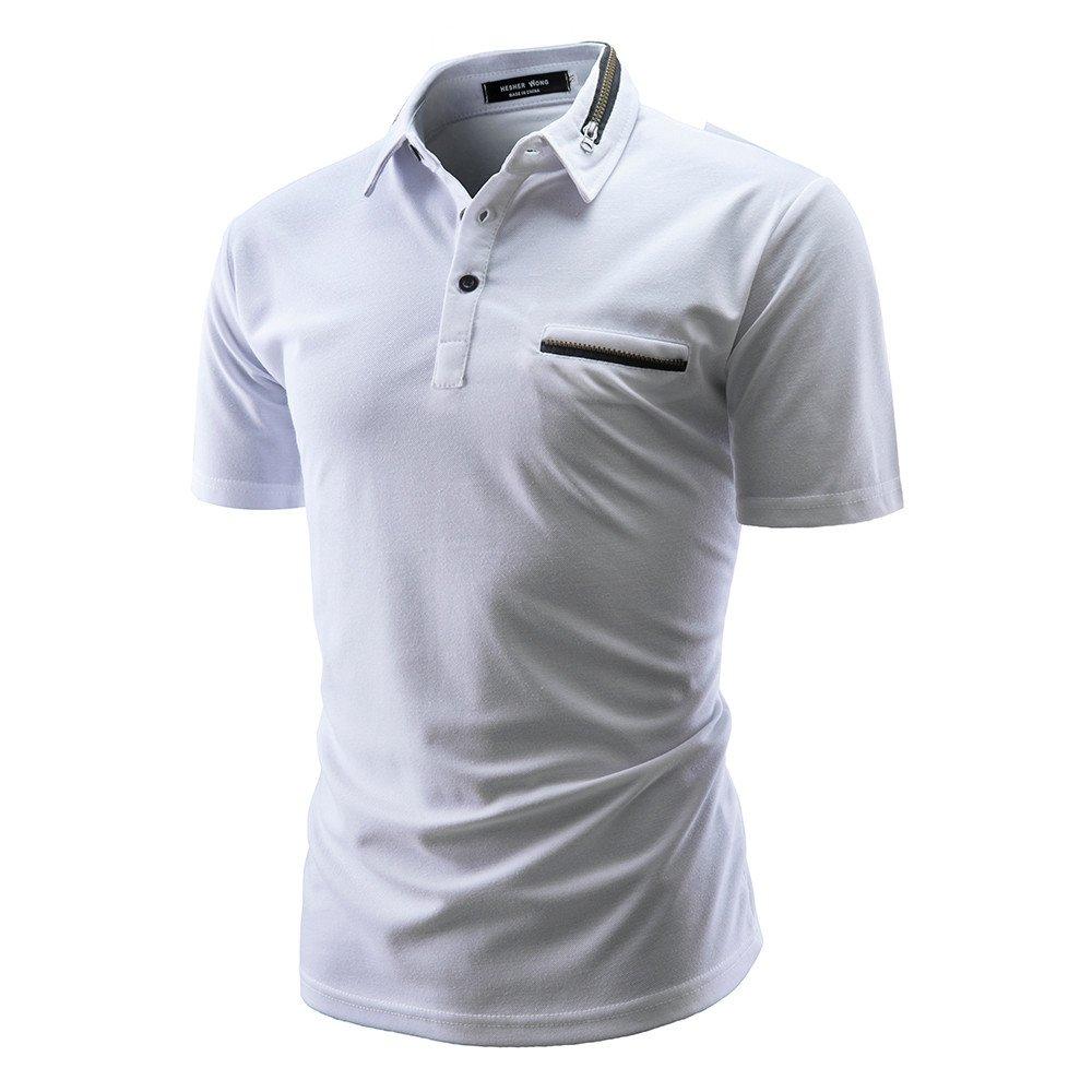 Camisetas Hombre, SHOBDW Blusa De Verano Color Sólido De Moda ...