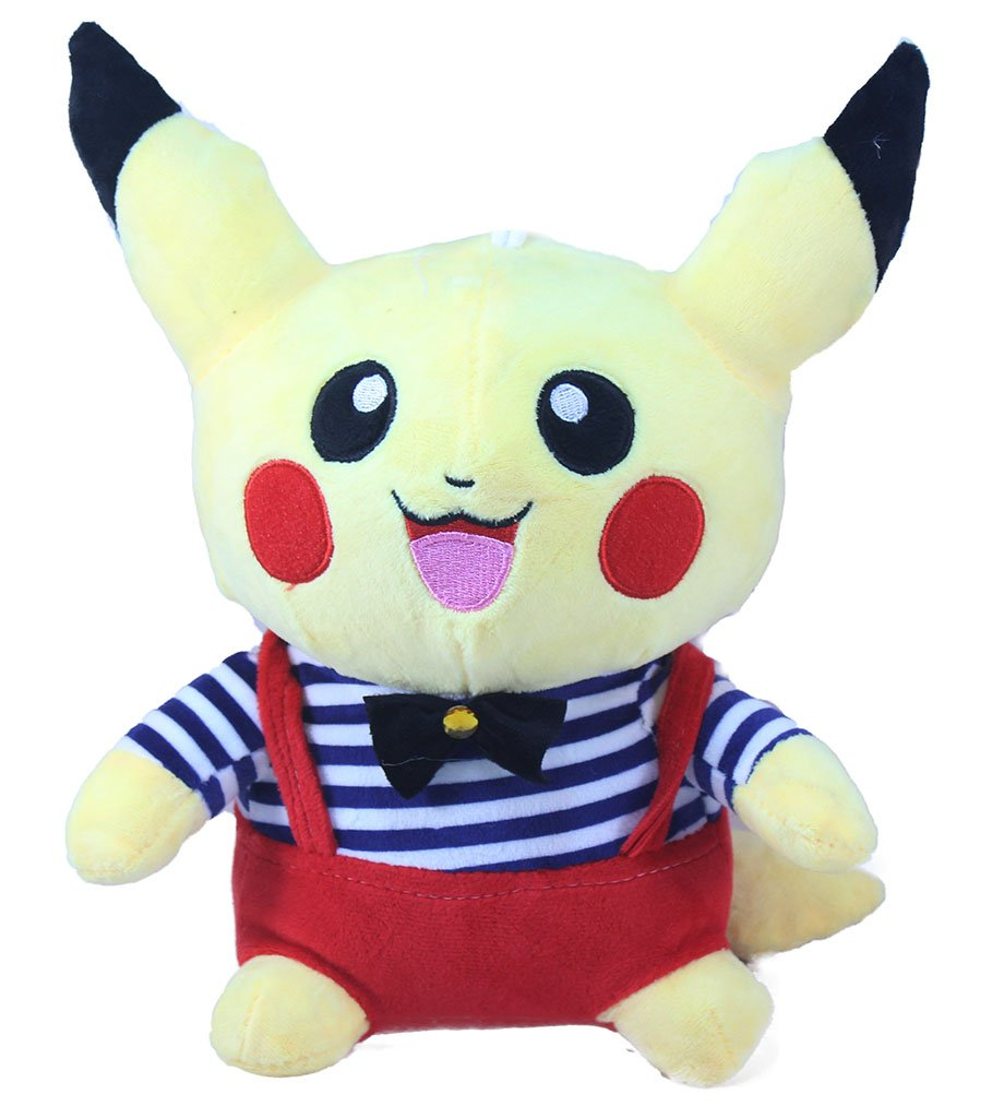 Buy tickles baby pokemon pikachu stuffed soft plush toy 22 cm colour may vary online at low prices in india amazon in