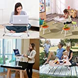 AboveTEK Versatile Laptop Table, Portable Lap Desk & Food Tray w/Height Adjustable Tabletop, Tilt on Couch & Bed, Apply in Office as Computer Riser Stand or Outdoor Camping, Extend as Standing Desk