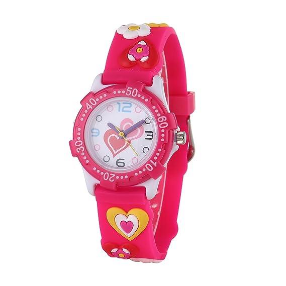 Niños reloj resistente al agua Digital 3d dinosaurio reloj analógico de cuarzo reloj de pulsera deportivo con tiempo para niñas niños: Amazon.es: Relojes