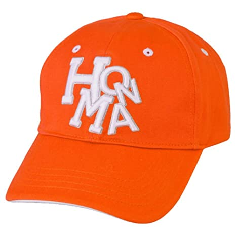 1807b37d5c6 Amazon.com   Honma 699-317670 Golf Cap Orange One Size Fits All ...