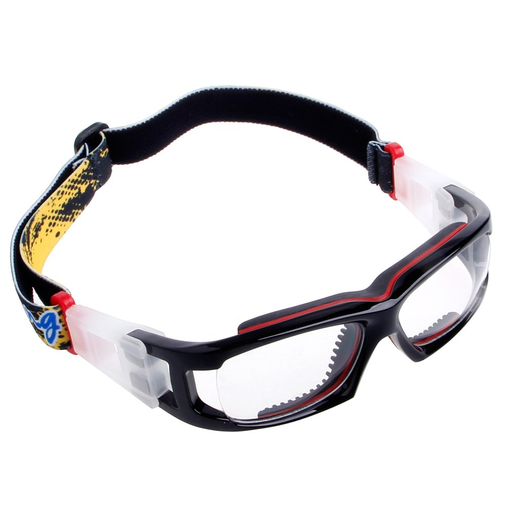 YDZN Sports ProtectiveGlassesSafetyGoggles For Basketball Football Cycling PC Outdoor (Black+Red)
