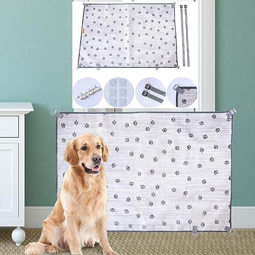 M.Q.L. Barrera de malla resistente para mascotas, puerta de perro, barrera para perro se puede utilizar en el vehículo, en casa, entrada de bodega, escalera.: Amazon.es: Productos para mascotas